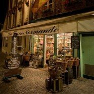 Souvenir shopping in Normandy